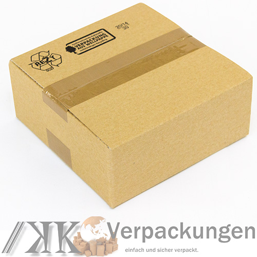 100 faltkartons 200x200x80mm kartons aus wellpappe braun 1 wellig ebay. Black Bedroom Furniture Sets. Home Design Ideas