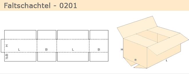 Fefco 0201, einfacher, leichter Aufbau.