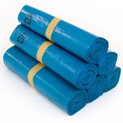 40 x ldpe m llbeutel m lls cke 240 liter blau abfalls cke ebay. Black Bedroom Furniture Sets. Home Design Ideas