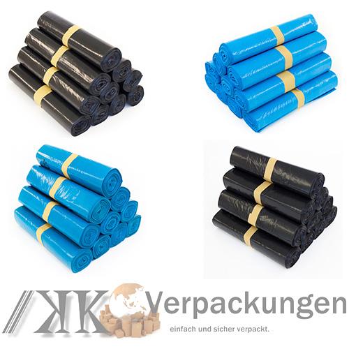 WOW-NEU-120L-240L-Muellsaecke-Blau-Schwarz-Abfallbeutel-Muelltueten