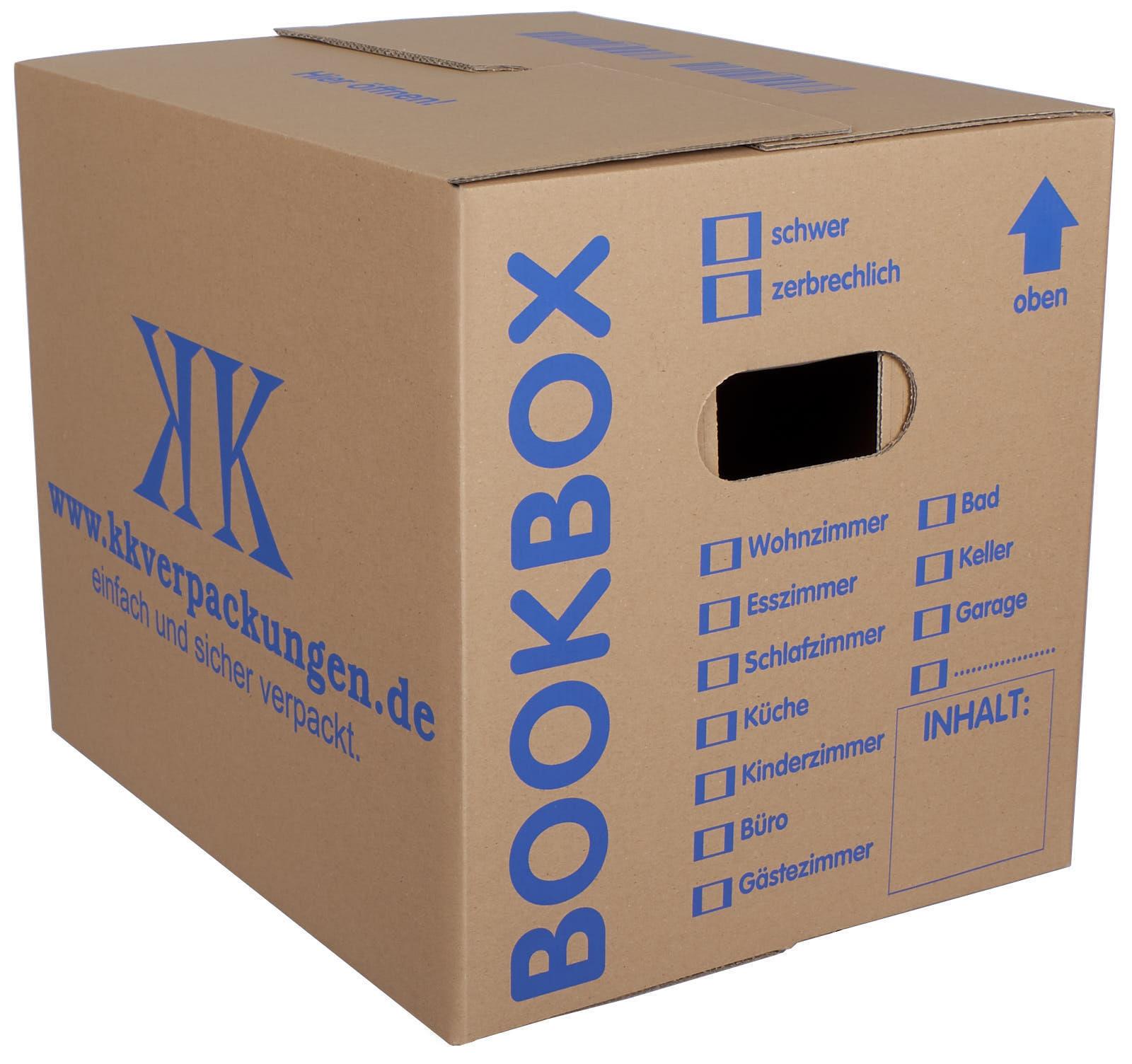 Profi Bücherkartons Bücher Karton 2-wellig 40kg Boxen 25