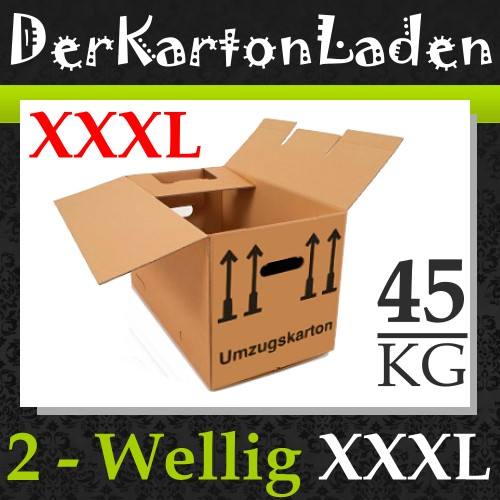 25 neue umzugskartons 2 wellig 45kg umzugkartons kk2w ebay. Black Bedroom Furniture Sets. Home Design Ideas
