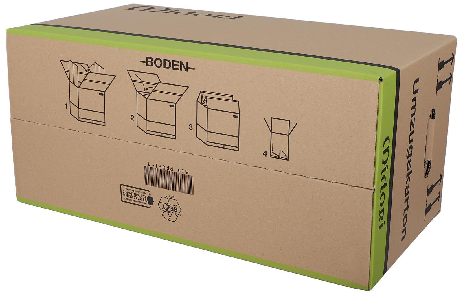 umzugskartons midori profi 2 wellig 630 x 285 x 305mm. Black Bedroom Furniture Sets. Home Design Ideas