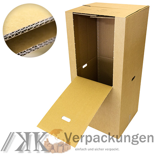 4 kleiderkartons kleiderbox kartonschrank kartons umzugskartons sehr stabil ebay. Black Bedroom Furniture Sets. Home Design Ideas