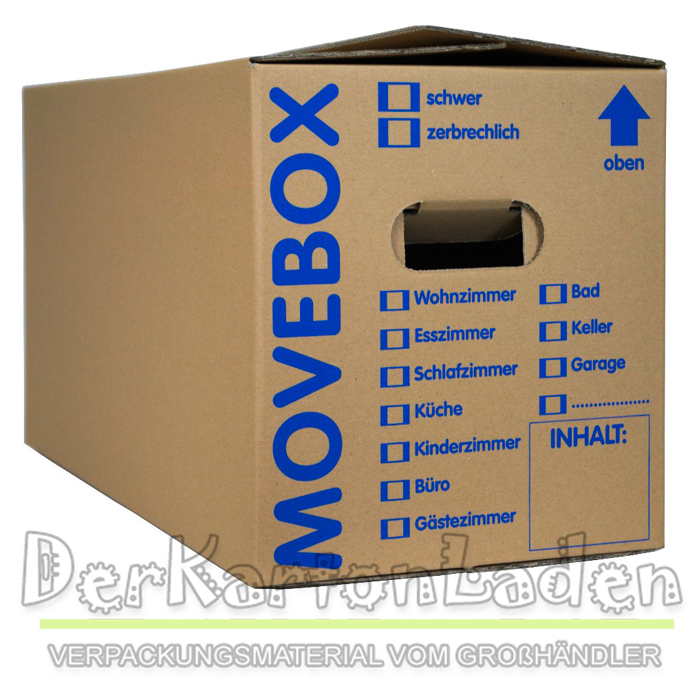 50 super g nstig umzugskartons 2 wellig 40 kg movebox ebay. Black Bedroom Furniture Sets. Home Design Ideas