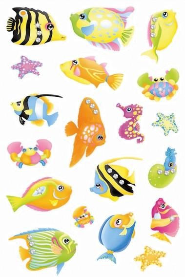 HERMA 6921 10x Sticker MAGIC Fische, Jewel