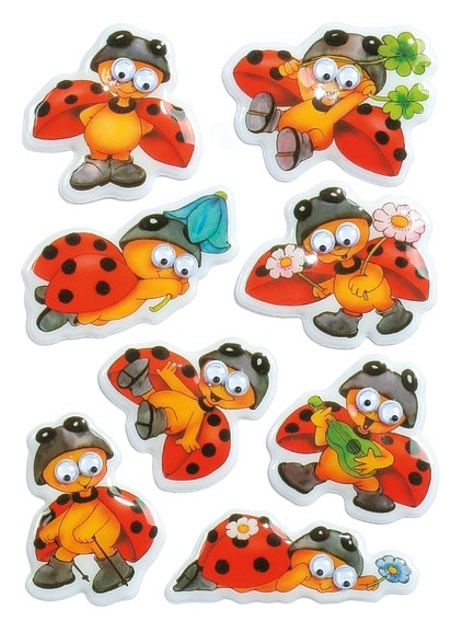 HERMA 6823 10x Sticker MAGIC Marienkäfer, Wackelaugen