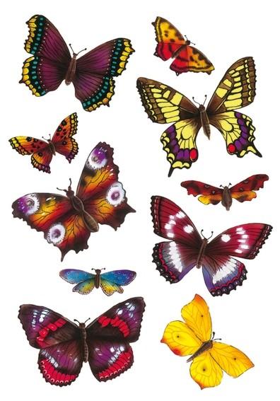 HERMA 6388 10x Sticker MAGIC Schmetterlinge, 3D-Flügel