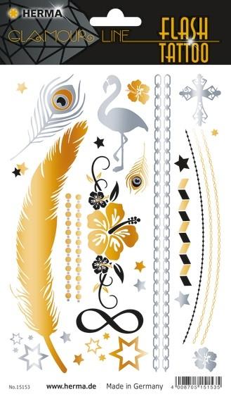 HERMA 15153 5x FLASH Tattoo Star