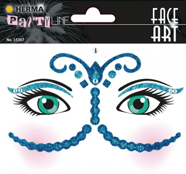 HERMA 15307 5x Face Art Sticker Bollywood