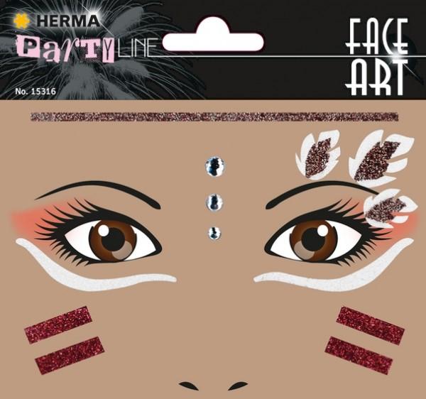 HERMA 15316 5x Face Art Sticker Indianer