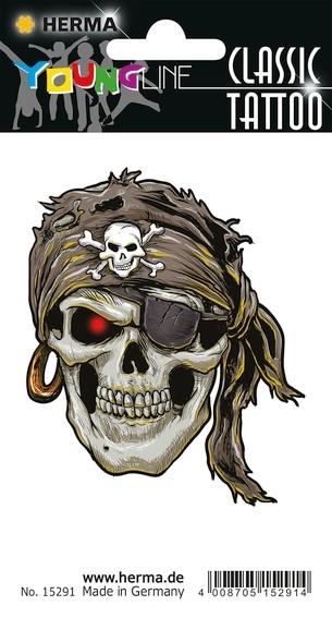 HERMA 15291 10x CLASSIC Tattoo Pirat XXL