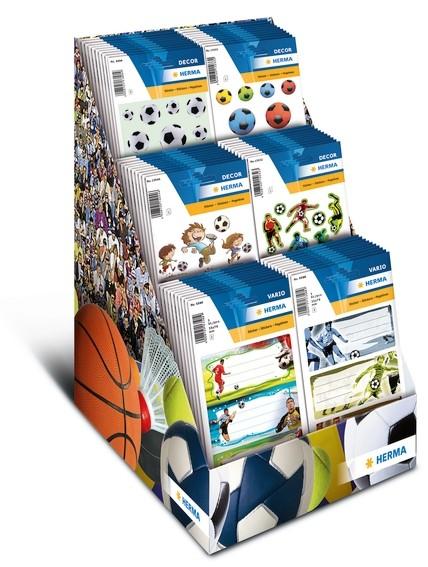 HERMA 3399 Display Sticker DECOR/MAGIC Fußball, 80 Pack.