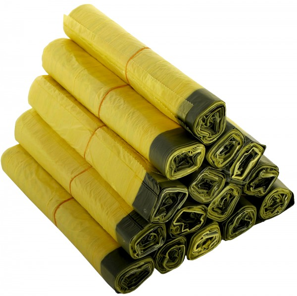Gelber Sack 90 Liter aus LDPE mit Zugband