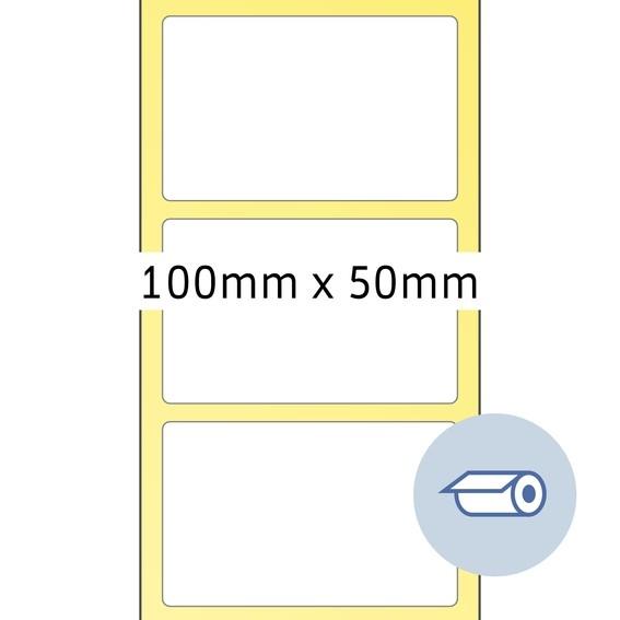 HERMA 4090 Rollenetiketten Thermotransfer 100x50 mm weiß Papier