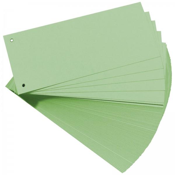 Trennstreifen aus Manilakarton 10,5 x 24 cm 160 g/m² Grün