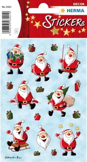 HERMA 3421 10x Sticker DECOR Weihnachtsmann