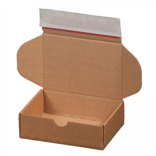 Versandkarton 140 x 101 x 43 mm mit Selbstklebeverschluss & Aufreißfaden