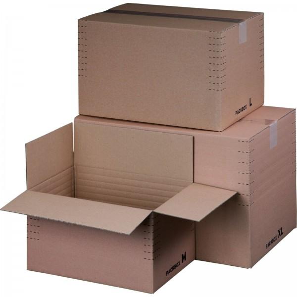 Versandkarton Automatikboden 320 x 220 x 80-190 mm DIN A4+