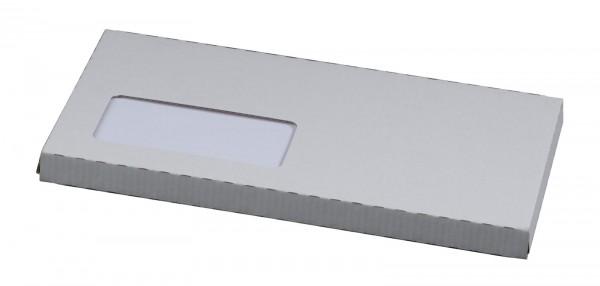CD/DVD-Versandverpackung in DIN lang für 1 Jewel-Case 225 x 125 x 12 mm Weiß mit Fenster