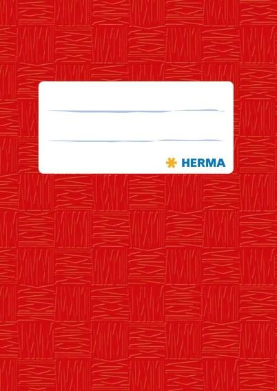 HERMA 7402 2500x Heftschoner PP A6 hoch gedeckt/rot