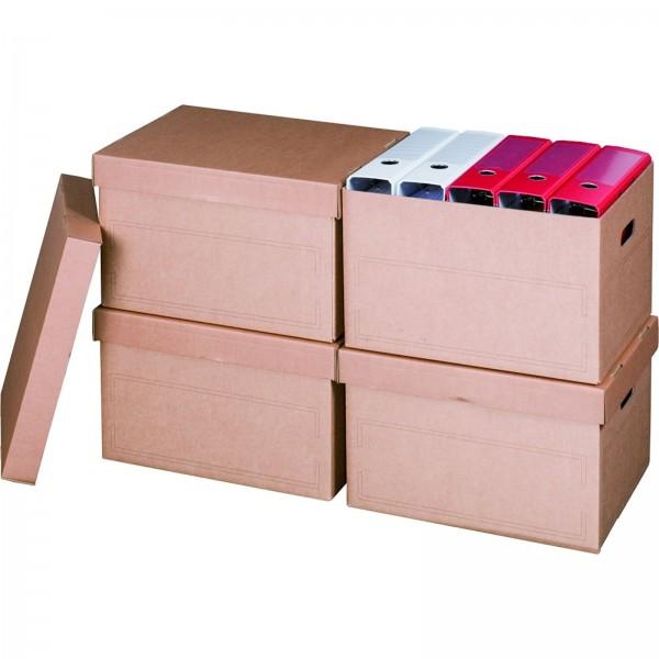 Archivcontainer für Ordner 413 x 330 x 266 mm Braun