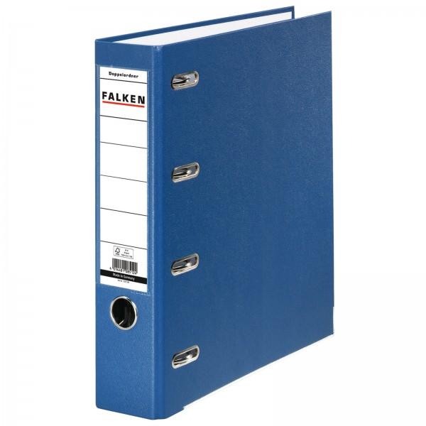 PP Doppelordner DIN A4 7 cm 2 x DIN A5 quer Blau