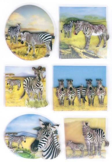 HERMA 6254 10x Sticker MAGIC Zebras, 3D Folie