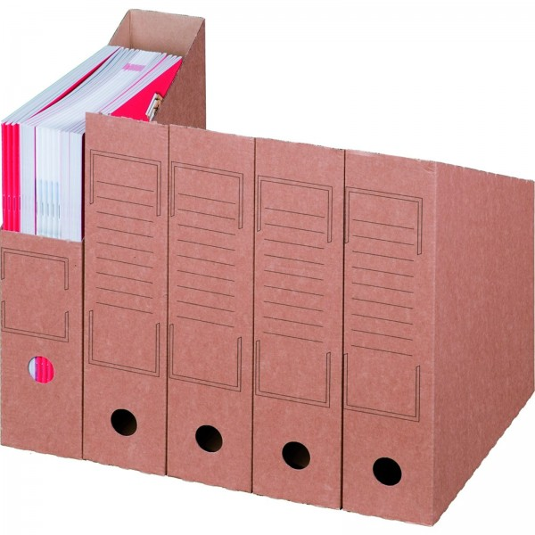 Archiv-Stehsammler mit Beschriftungsfeld 75 mm Rückenbreite DIN A4 Weiß