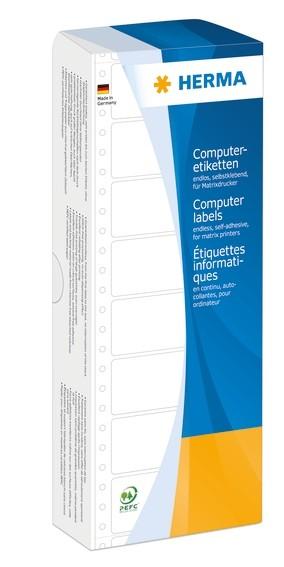 HERMA 8122 Computeretiketten 101,6x48,4 mm 1-bahnig rot Papier m