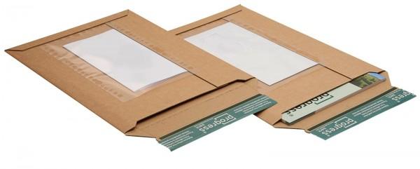 352 x 250 x -40 mm Versandtasche aus Wellpappe mit Folientasche