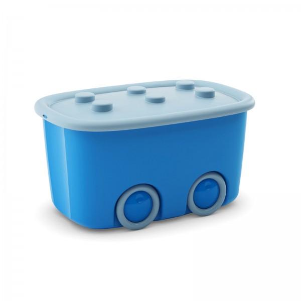 Spielzeugaufbewahrungsbox 46 Liter Blau/Hellblau