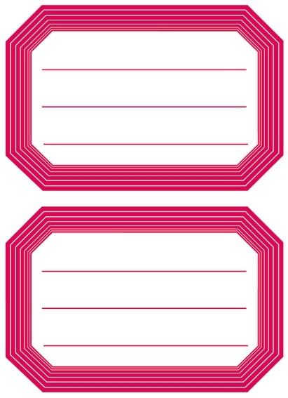 HERMA 5712 10x Schuletiketten neutral roter Rand liniert 82x55 m