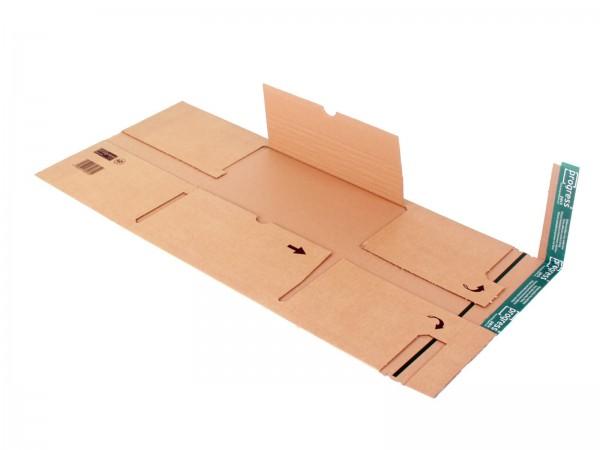 Ordner-Versandverpackungen mit zentraler Packgutaufnahme und Sch