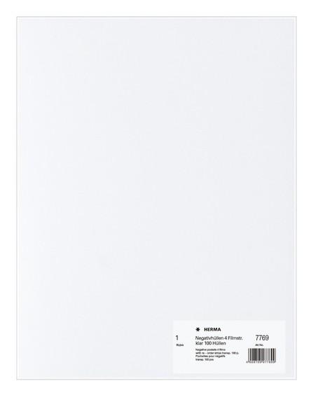 HERMA 7769 Negativhüllen, transparent, 4 Filmstreifen klar 100 S