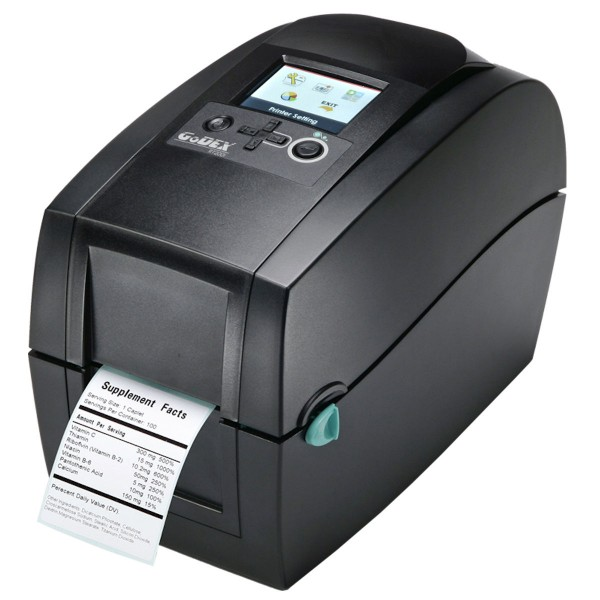 GoDEX Desktopdrucker RT200i 203 dpi LAN seriell USB Display