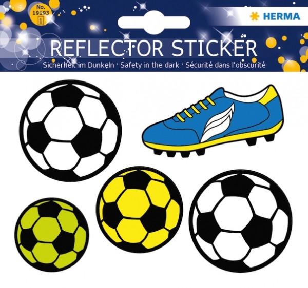 HERMA 19193 5x Reflektorsticker Fussball