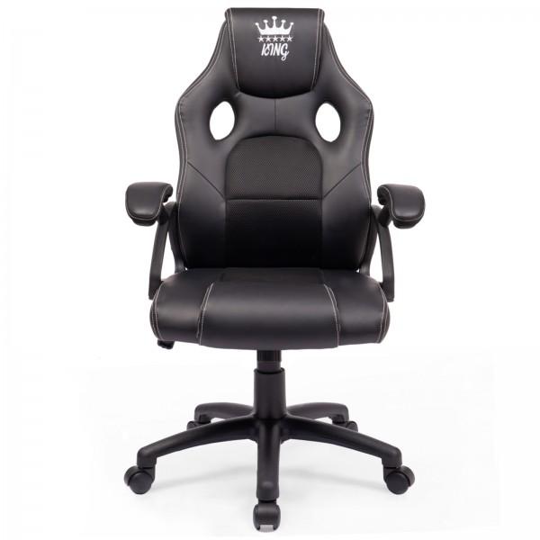 Midori® Racing Stuhl Bürostuhl Drehstuhl Sportsitz Schwarz