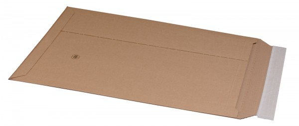 Kartonversandtasche 335 x 500 x 50 mm DIN A3 mit Aufreißfaden & Selbstklebeverschluss