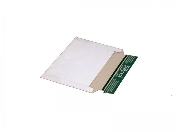 228 x 163 mm Versandtasche aus Vollpappe Querformat (weiß)