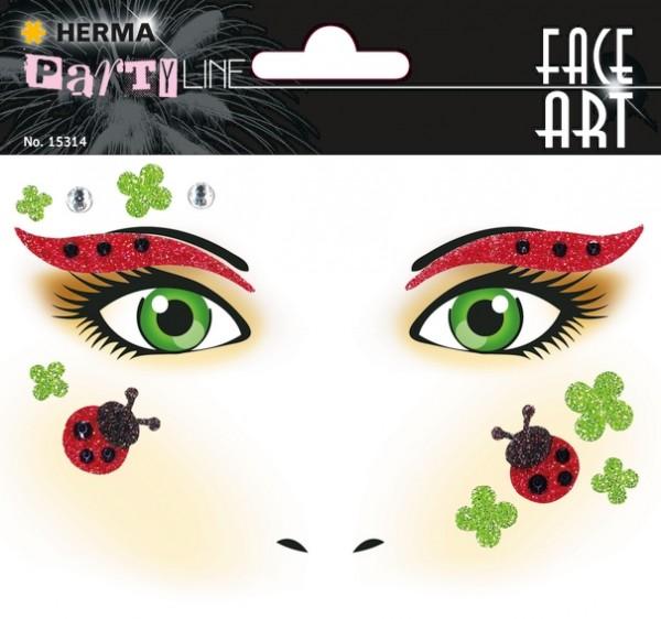 HERMA 15314 5x Face Art Sticker Marienkäfer