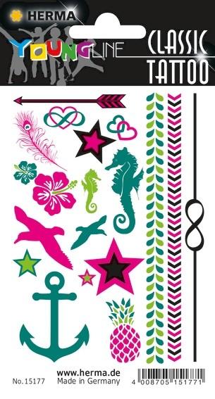 HERMA 15177 10x CLASSIC Tattoo Colour Summerfeeling