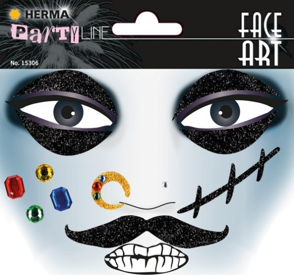 HERMA 15306 5x Face Art Sticker Pirat