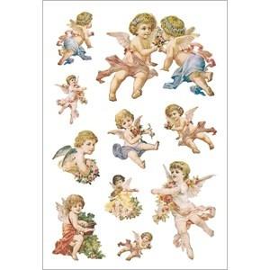 HERMA 3338 10x Sticker DECOR Nostalgische Engel, beglimmert
