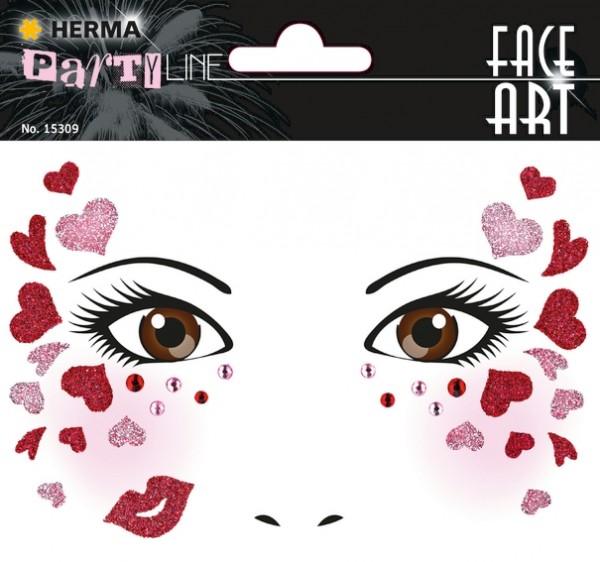 HERMA 15309 5x Face Art Sticker Love