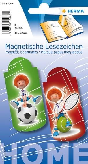 HERMA 15089 5x Magnetische Lesezeichen Sportler