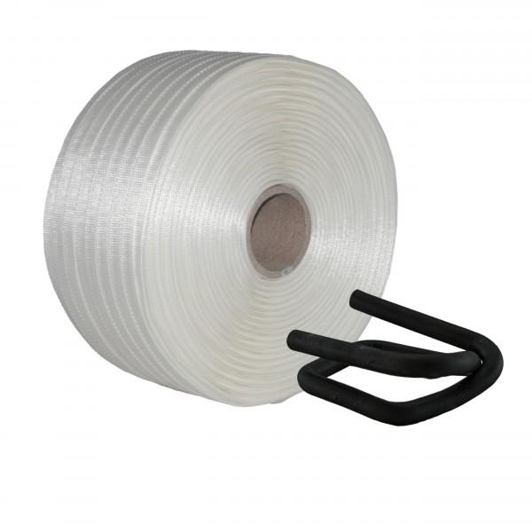 16 mm Textil gewebt Umreifung Set Umreifungsband Metallklemmen p