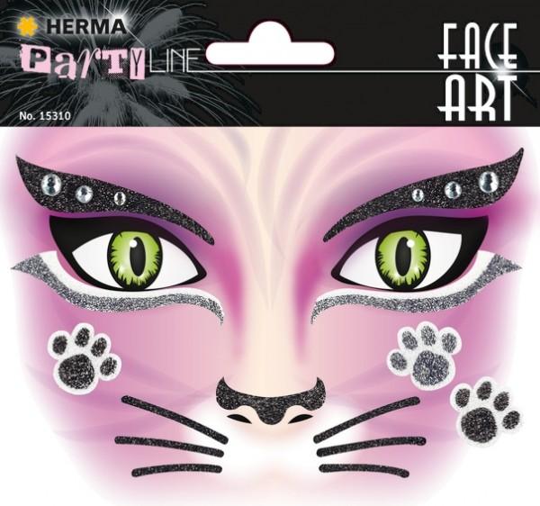 HERMA 15310 5x Face Art Sticker Pink Cat