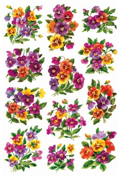 HERMA 3348 10x Sticker DECOR Veilchengestecke, beglimmert