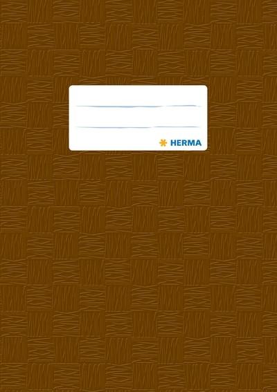 HERMA 7427 2500x Heftschoner PP A5 gedeckt/braun